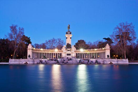 Memorial in Retiro city park, Madrid