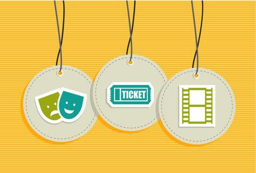 Hanging entertainment badges