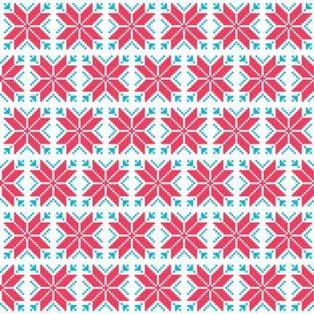 Christmas nordic seamless pattern