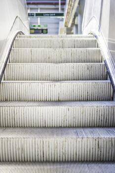 escalator in a public building