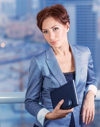 Businesswoman on the meeting