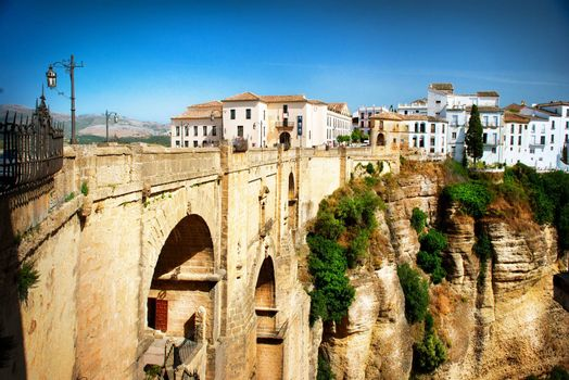 Ronda, Spain. Panoramic view of the old city of Ronda. Spain