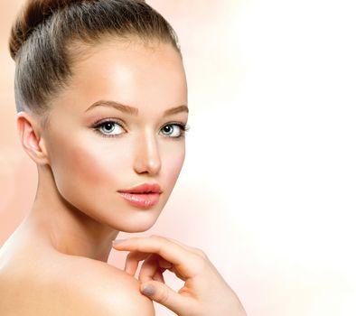 Beauty Teenage Girl Portrait