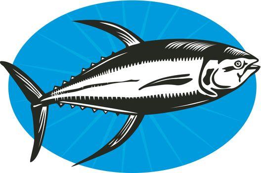 Yellow Fin Tuna Fish Retro