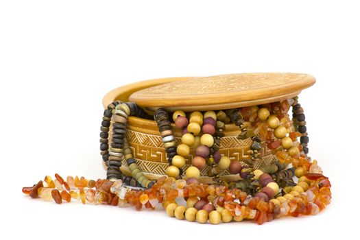 clay casket with jewellery