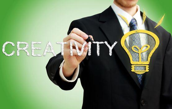 Businessman with Creativity Concept