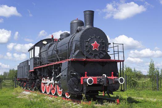 Typical Russian locomotive twenties of the last century