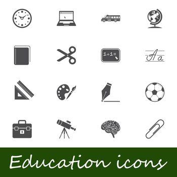 Education icons. Vector illustration.