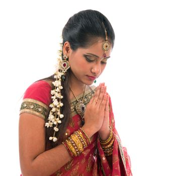 Indian prayer isolated