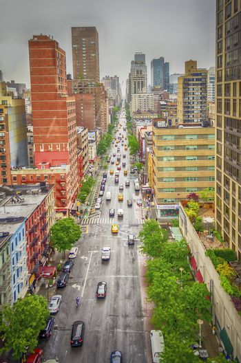 Aerial View of the 1st Avenue, Manhattan