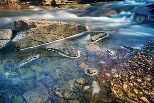 Foaming creek