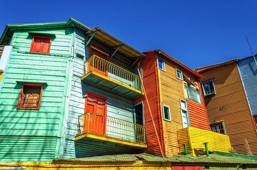Bright colors in La Boca neighborhood in Buenos Aires, Argentina