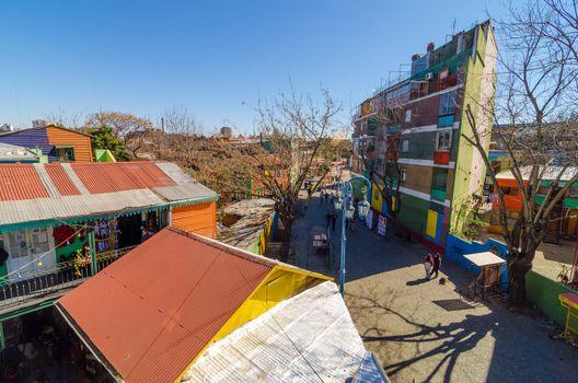 View of Caminito in La Boca neighborhood in Buenos Aires, Argentina