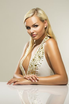 Beautiful glamorous blond woman