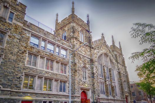 NEW YORK - MAY 29: The Abyssinian Baptist Church, New York on May 29, 2013. Located in the Harlem neighborhood, It has served as a space for African American spirituality, politics and community