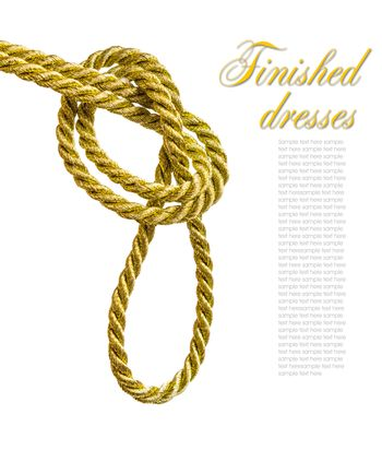 Knot tied to a golden cord