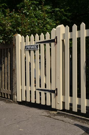 Wooden private picket gate