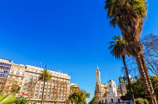View of the Plaza de Mayo in the center of Buenos Aires, Argentina