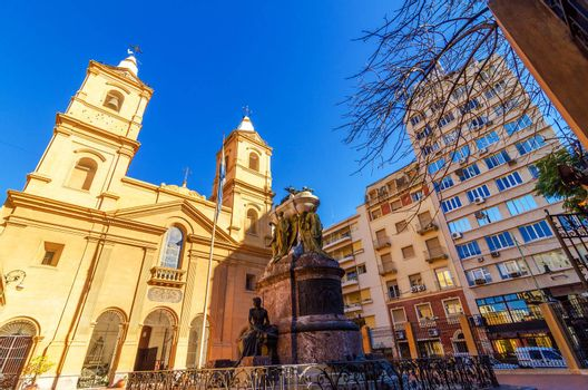 Santo Domingo church and convent in the San Telmo neighborhood of Buenos Aires, Argentina