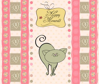 greetings card with cat