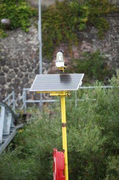 Solar powered portable light