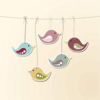 Birds on strings