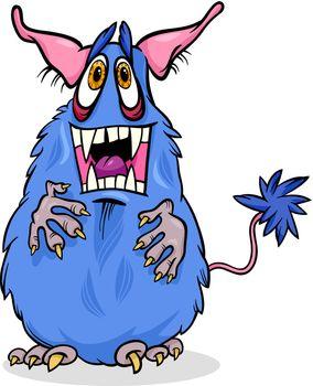 cartoon funny monster illustration