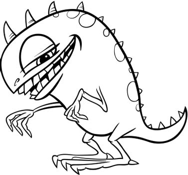 cartoon monster illustration for coloring