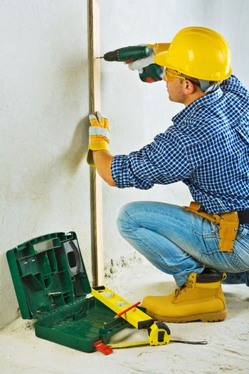 a contractor in work