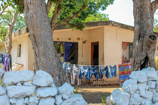 "Typical home in The Yucatan little towns called ""Pueblos"""