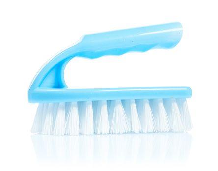 blue scrub brush