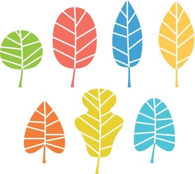 Colorful Autumn leaves set. Vector Illustration