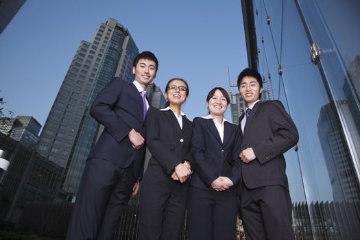 Businesspeople in Business District