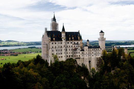 Neuschwanstein Castle in southwest Bavaria, Germany