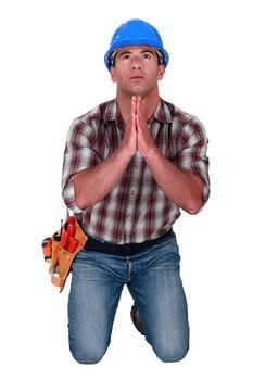 Craftsman praying