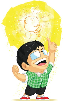 Kid Having a Light Bulb Idea