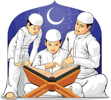 Kids Learn to Read Al-Quran with Their Parent