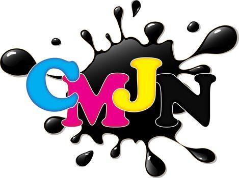 encre d'impression CMJN