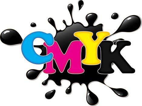 CMYK ink