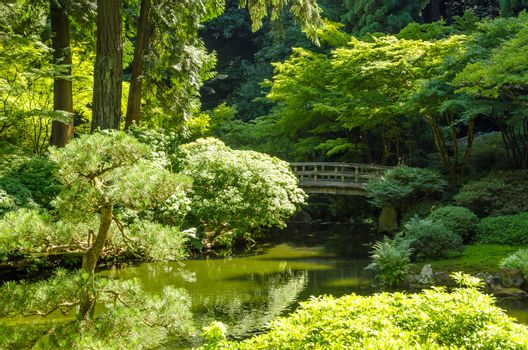 View of the Japanese Garden in Portland, Oregon