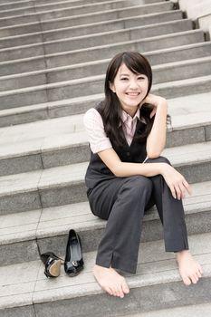 business woman rest