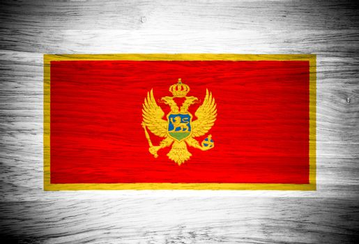 Montenegro flag on wood texture
