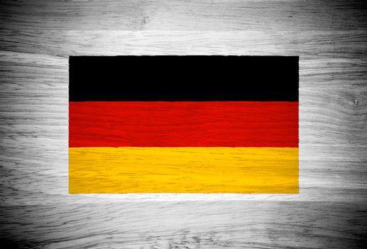 Germany flag on wood texture