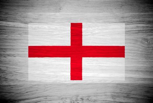 England flag on wood texture