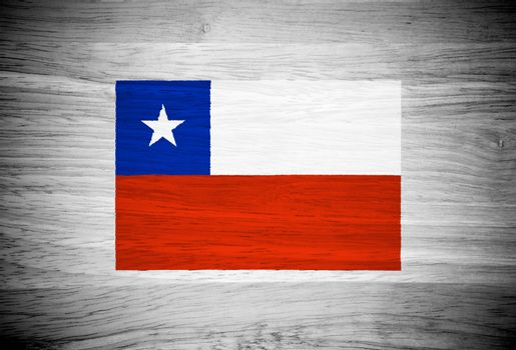Chile flag on wood texture