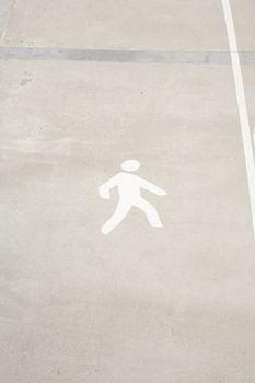 pedestrian lane sign