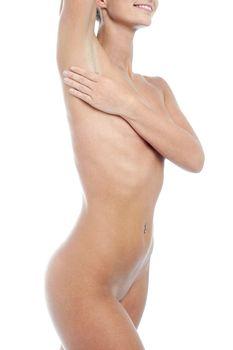 Nude portrait of a sensual woman
