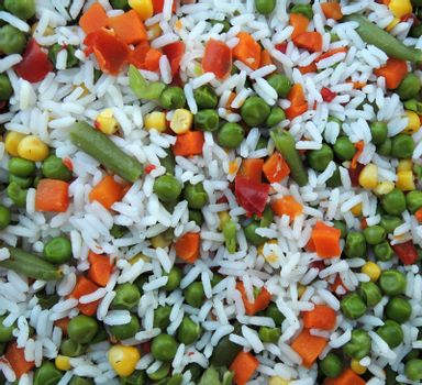 Vegetable mix with rice