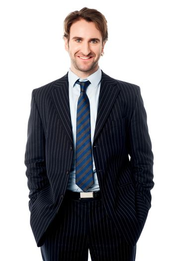 Well dressed male business executive