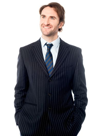Smartly dressed male business executive